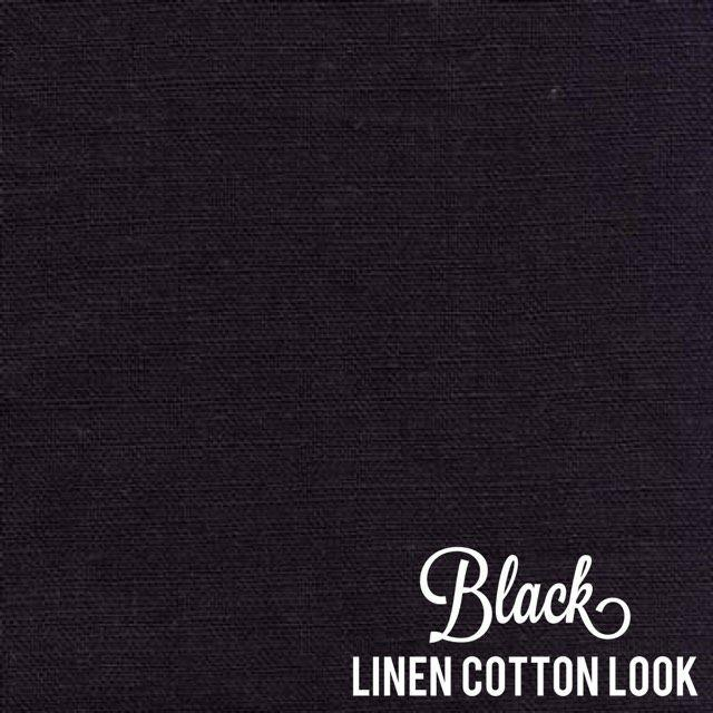 Black - Linen Look Cotton
