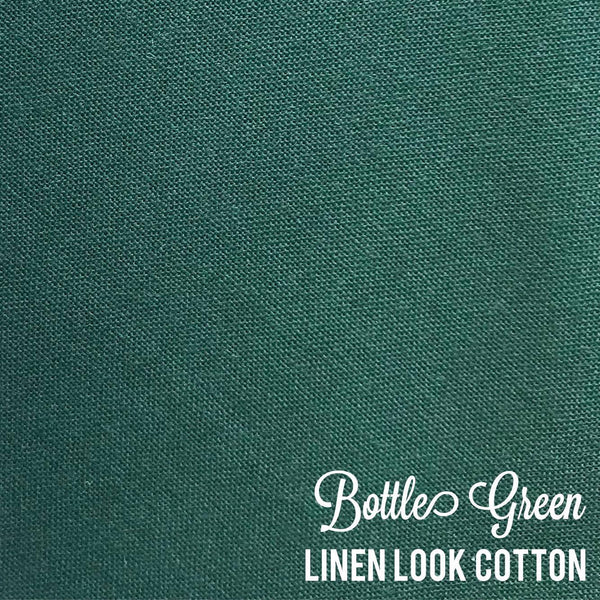 Bottle Green - Linen Look Cotton