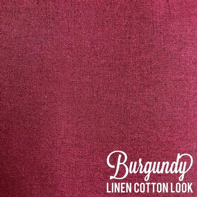 Burgundy - Linen Look Cotton
