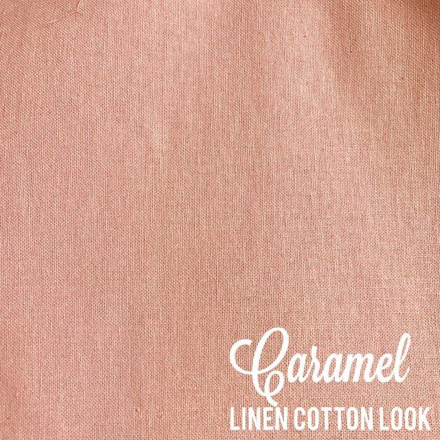 Caramel - Linen Look Cotton