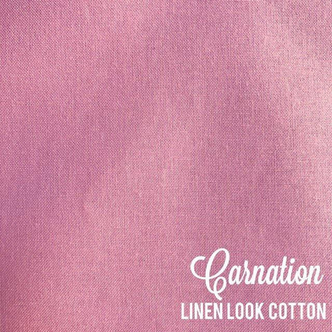 Carnation - Linen Look Cotton