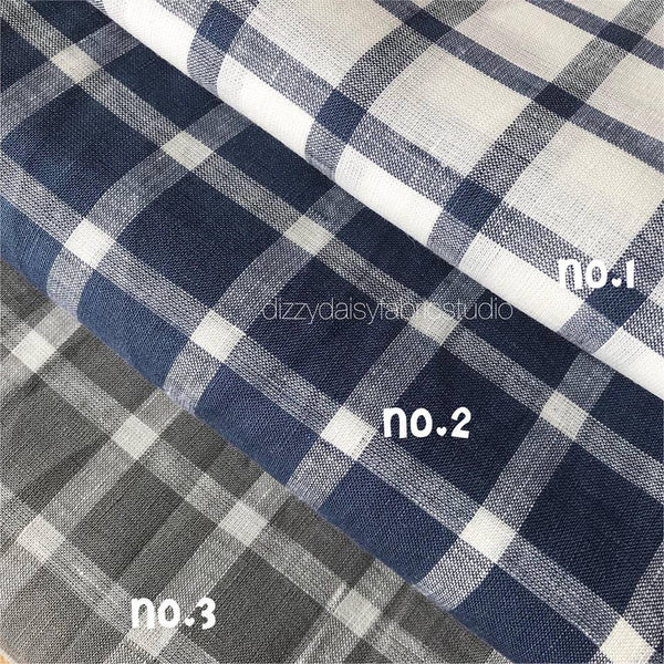 Pure Linen - Checked Pattern