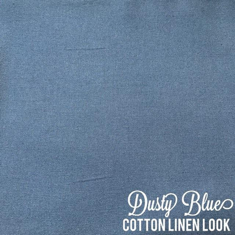 Dusty Blue - Linen Look Cotton