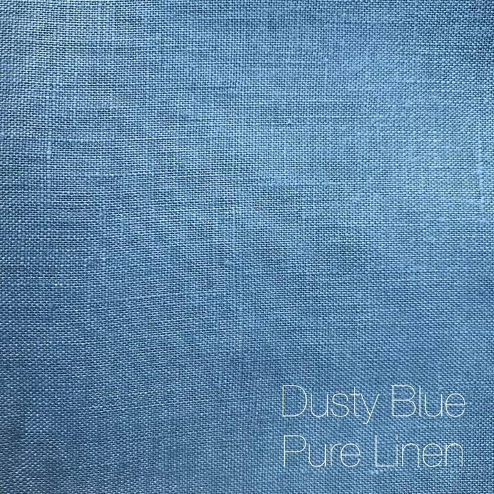 Dusty Blue - Pure Linen