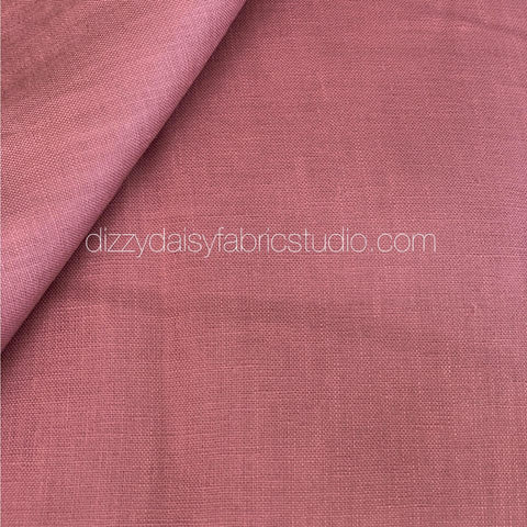 Dusty Mauve Pink - Pure Linen