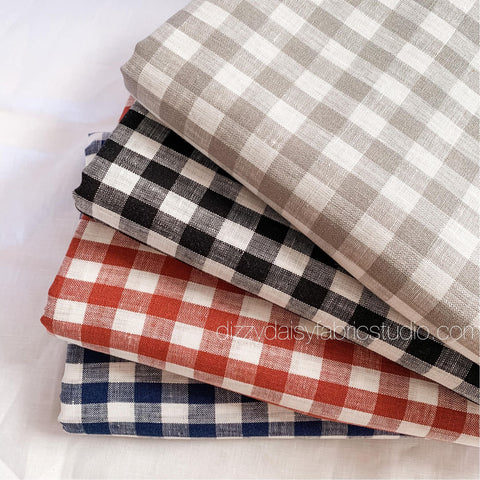 Pure Linen - Small Gingham
