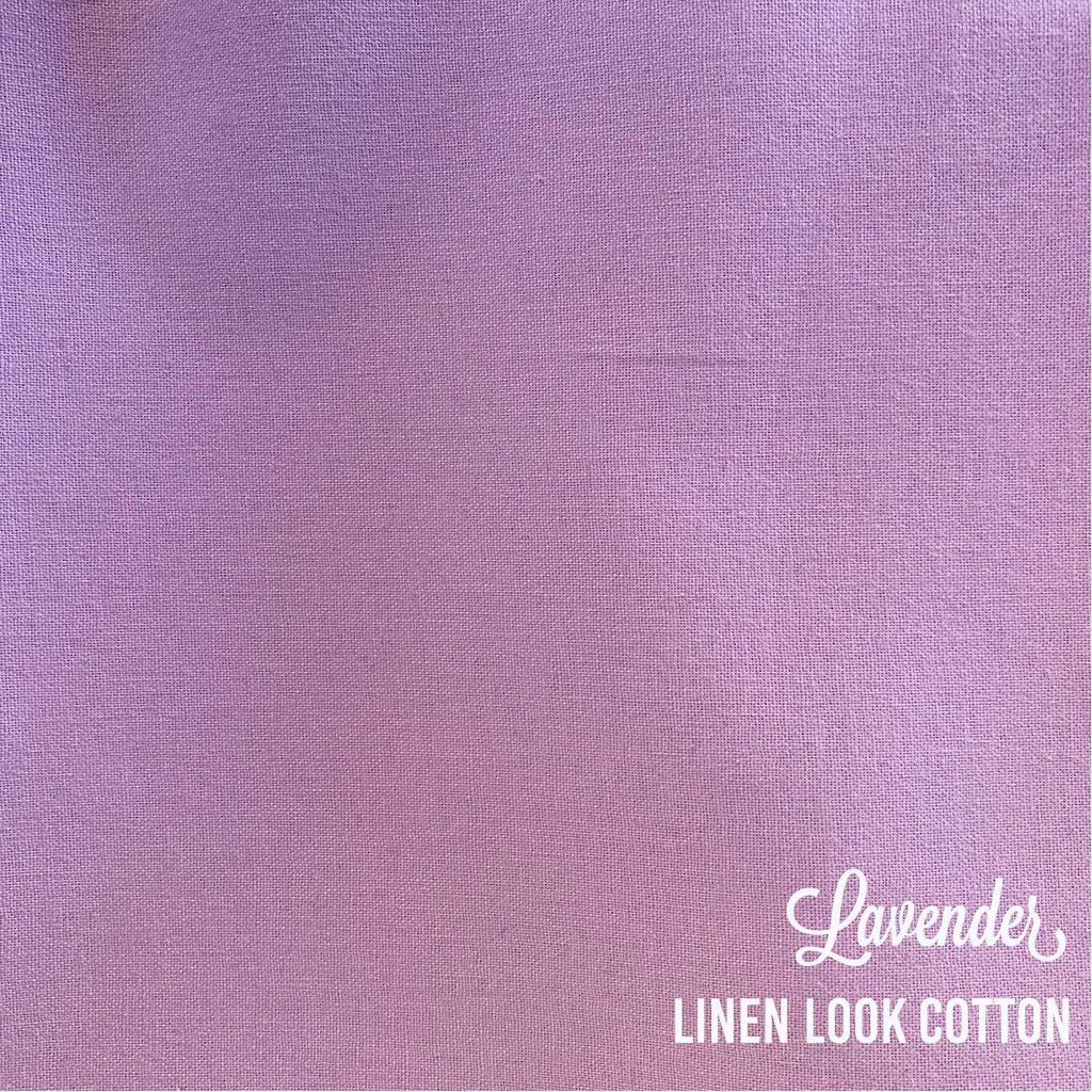 Lavender - Linen Look Cotton
