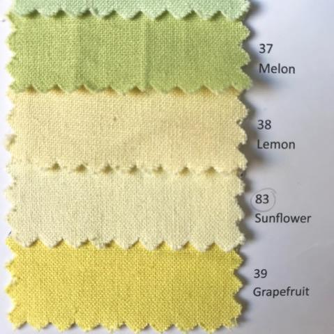 Lemon Yellow - Linen Look Cotton