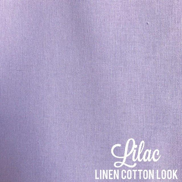 Lilac - Linen Look Cotton