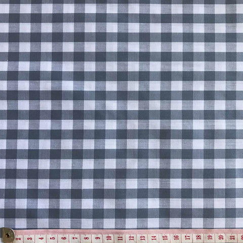 Gingham Grey/White 1 centimeter checks