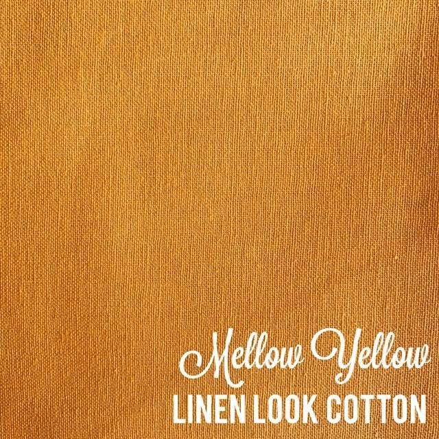 Mellow Yellow - Linen Look Cotton
