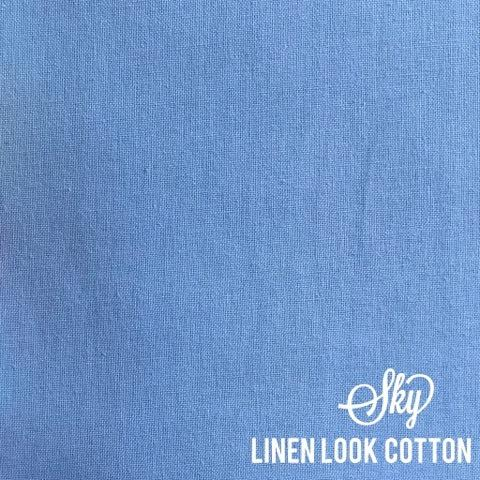 Sky Blue - Linen Look Cotton