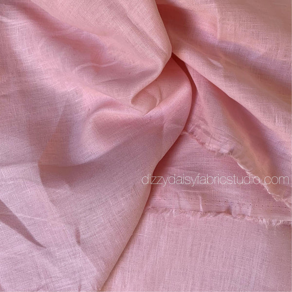 Peachy Pink - Pure Linen