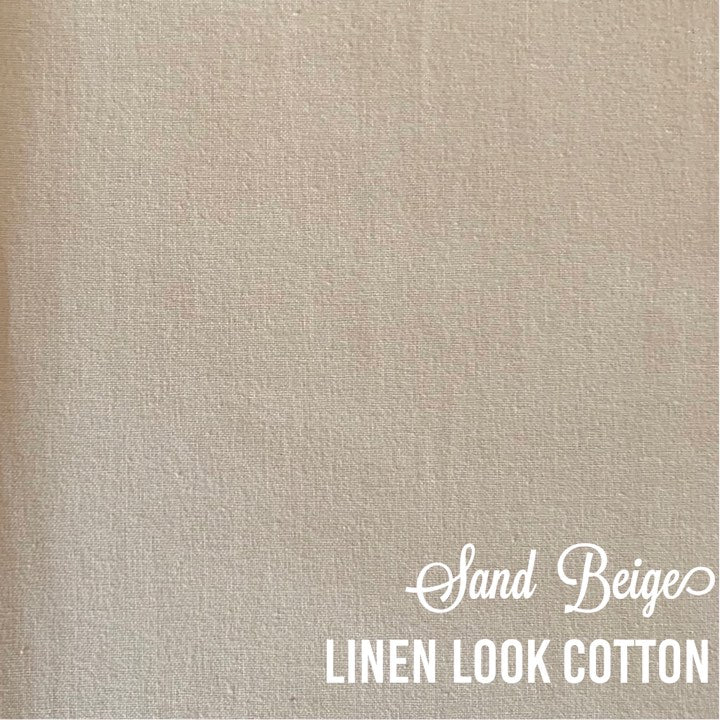 Sand Beige - Linen Look Cotton