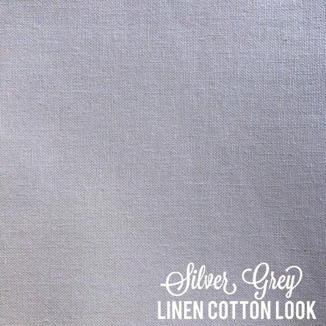 Silver Grey - Linen Look Cotton