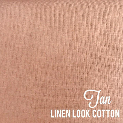 Tan - Linen Look Cotton