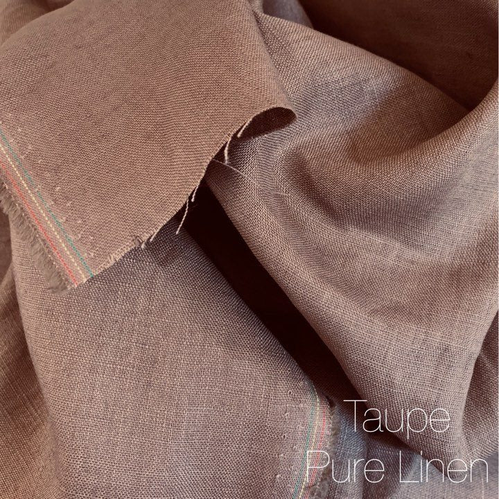 Taupe Brown - Pure Linen