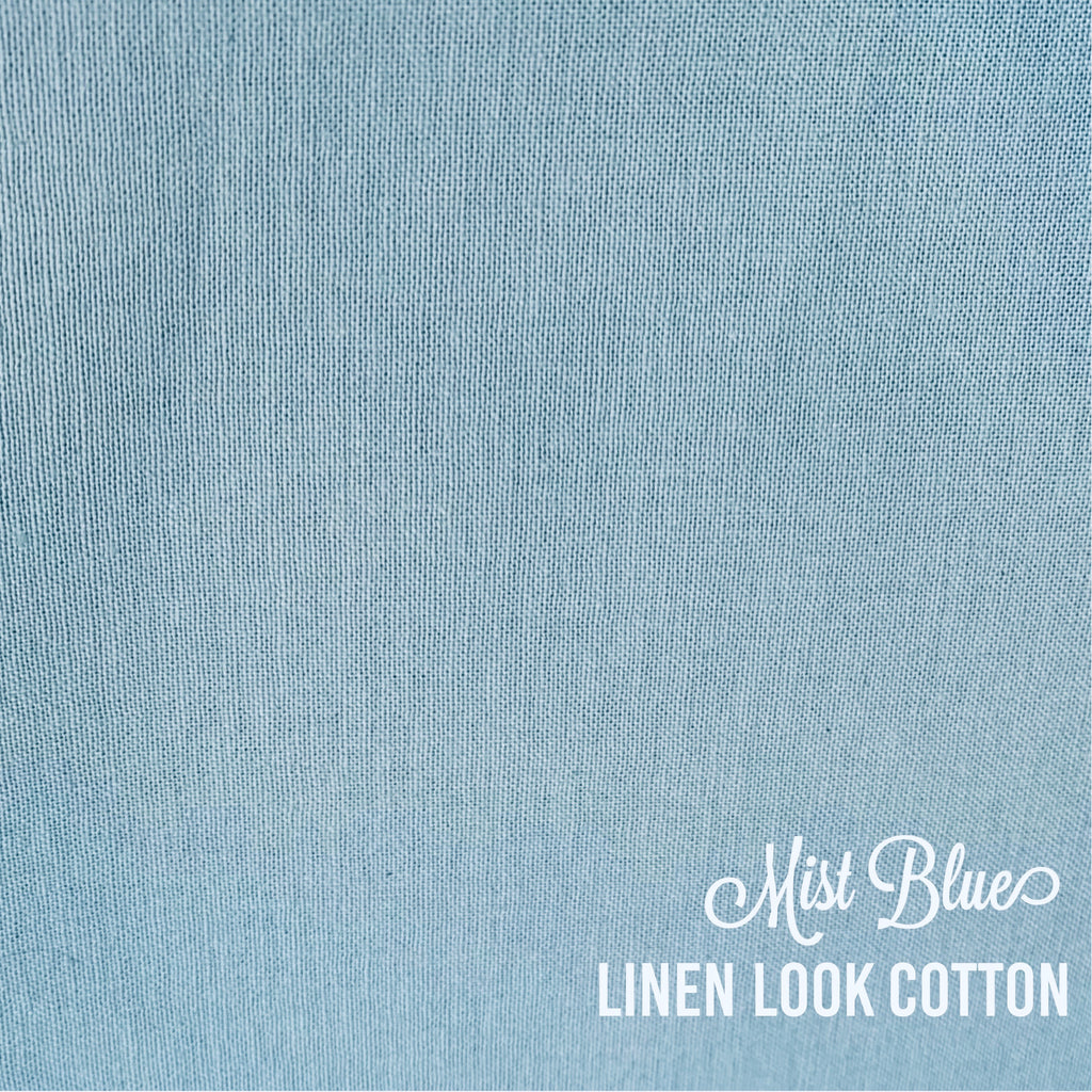 Mist Blue - Linen Look Cotton