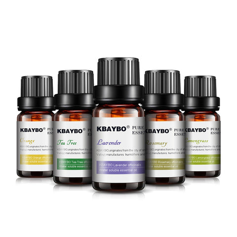 Essential Oil(10 ml) for Diffuser, Aromatherapy Oil Humidifier Lavender, Tea Tree, Rosemary, Lemongrass, Orange