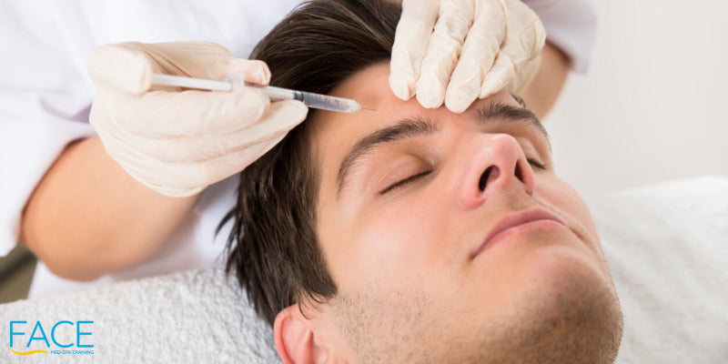 young Man Having Botox Treatment