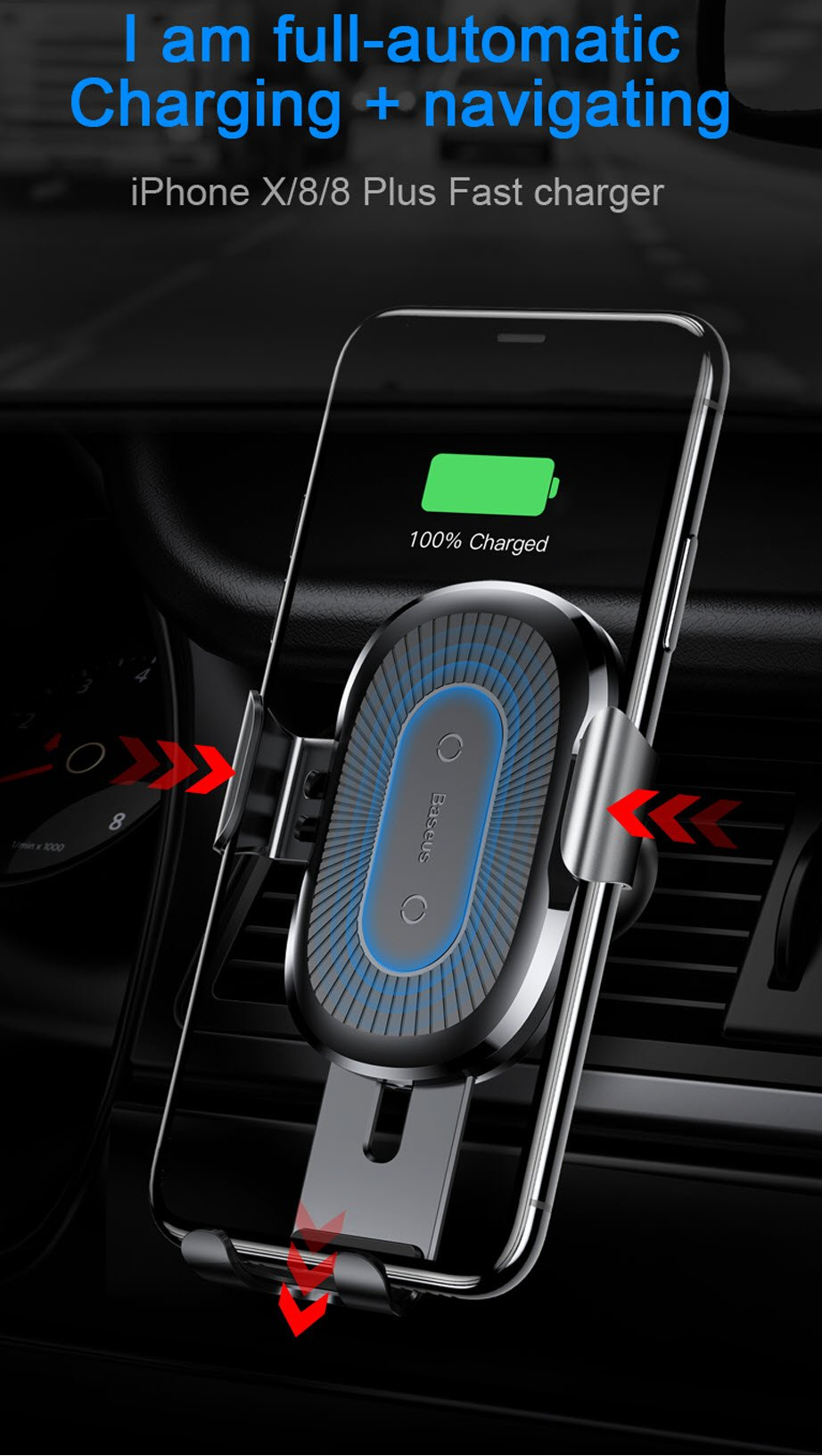 Car Mount Qi Wireless Charger For all Phones