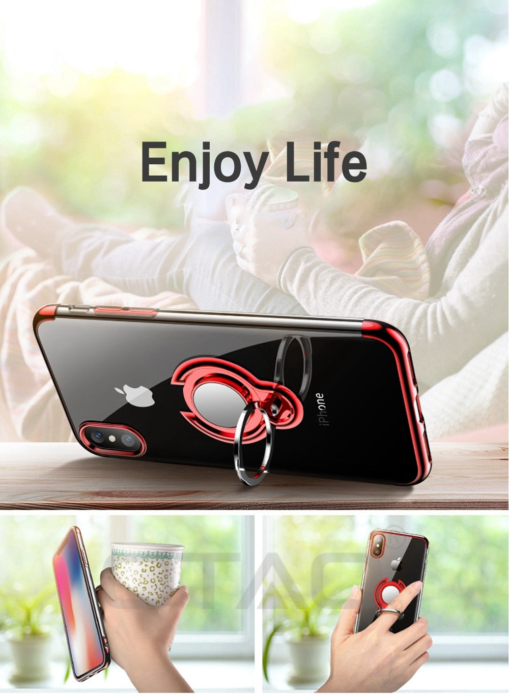 Ultra Thin Transparent iPhone Case For iPhone