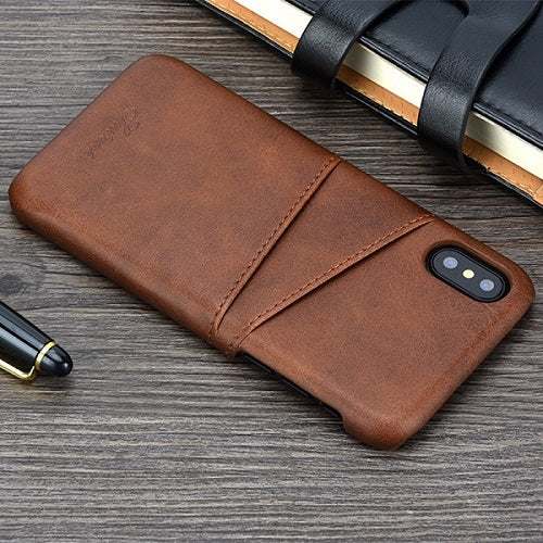 Slim Luxury  PU Leather case For iPhone