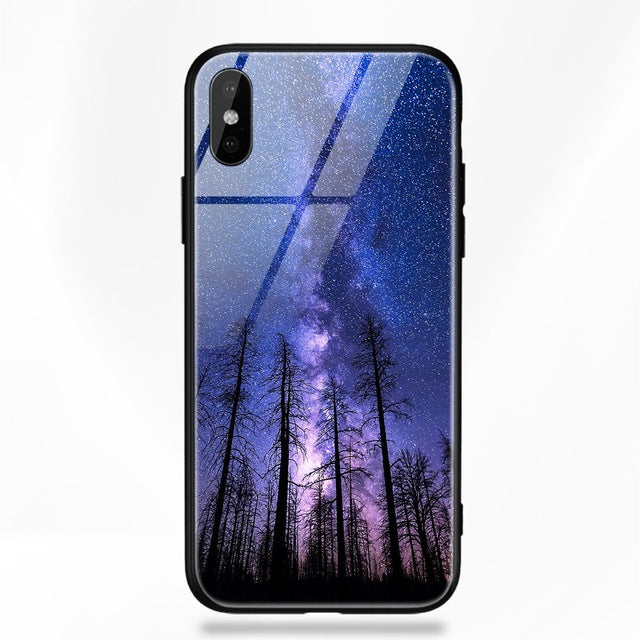 Star & Space Glass Case For Samsung