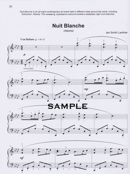 Voyageur Intermediate piano book Nuit Blanche art nocturne Classical