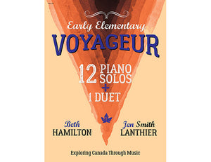 Voyageur Early Elementary orange piano book Canadian original new music