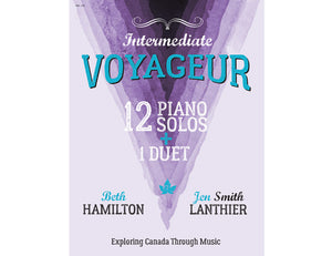 Voyageur Intermediate purple piano book Canadian original new music