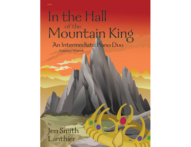 In the Hall of the Mountain King intermediate piano duet arrangement Troll King mountain crown