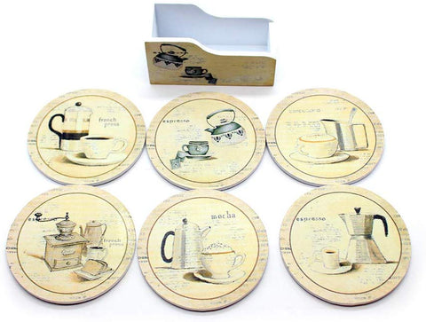 Vintage Coffee Design Coasters