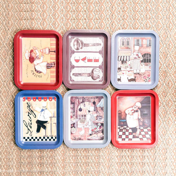 Cute Chef Small Trays (Set Of 6)