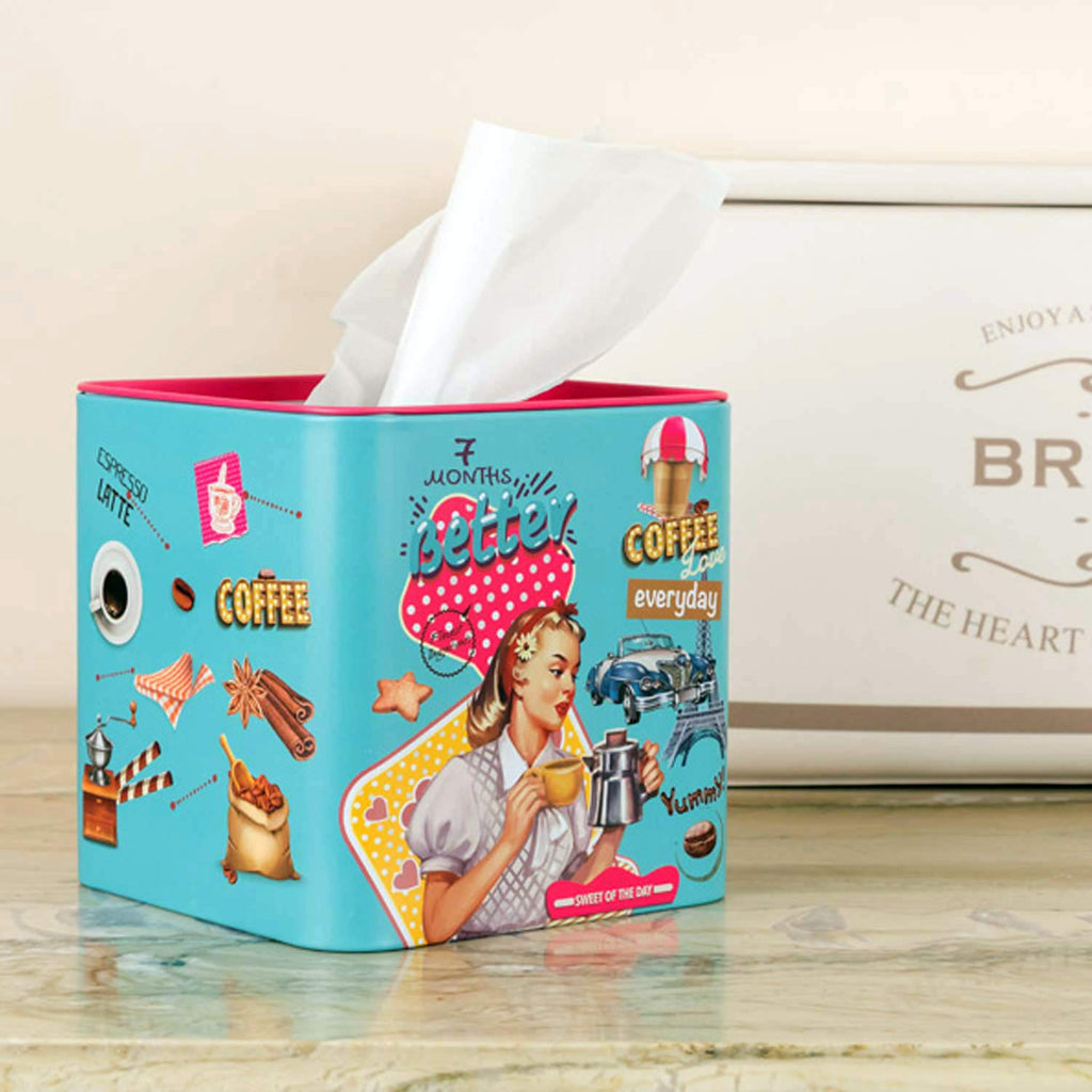 Retro Square Tissue Box