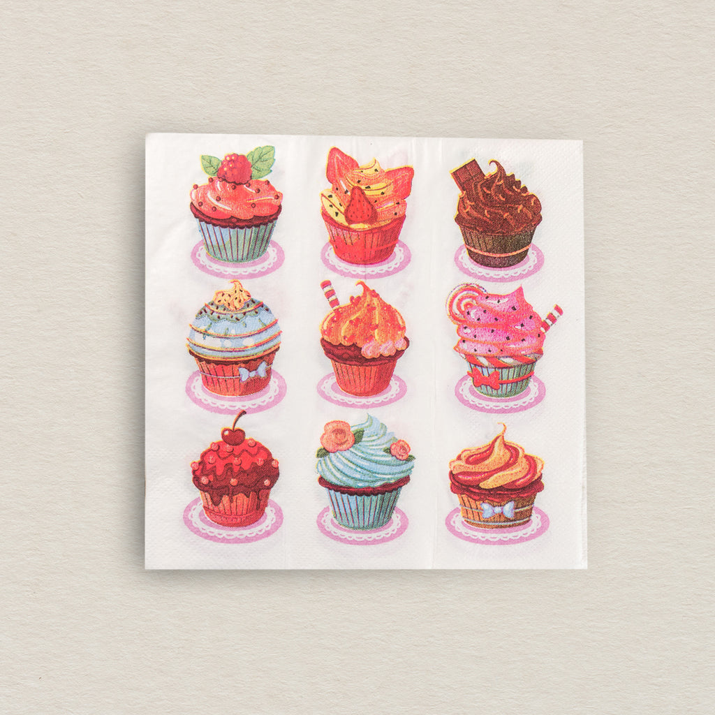 Colourful Cupcake Tissue Paper Pack (Set Of 20)