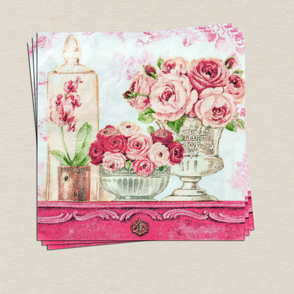Vintage Floral Tissue Paper Pack (Set Of 20)