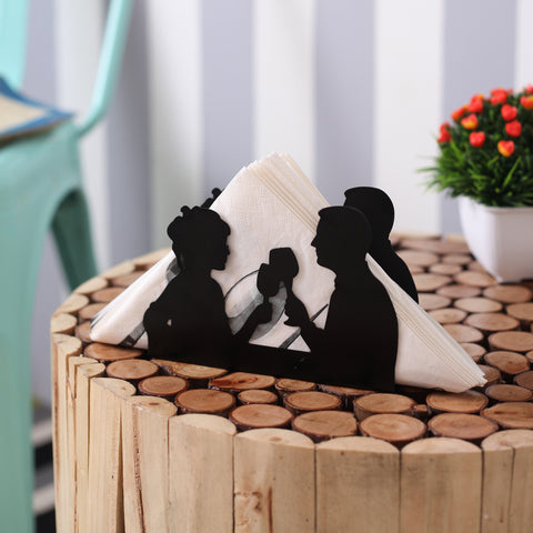 Date Night Black Tissue Holder