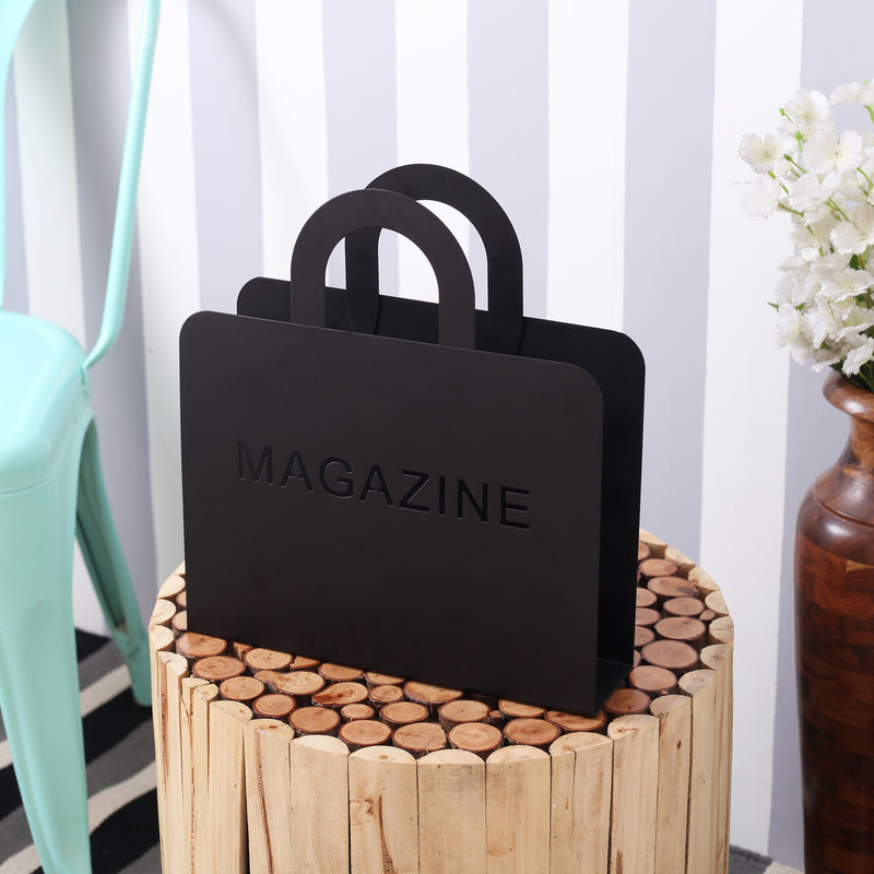 Stylish Black Magazines/ Newspapers Rack
