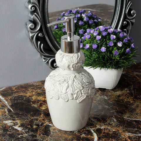 Vintage Butterfly Liquid Soap Dispenser- Grey
