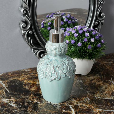 Vintage Butterfly Liquid Soap Dispenser- Turquoise