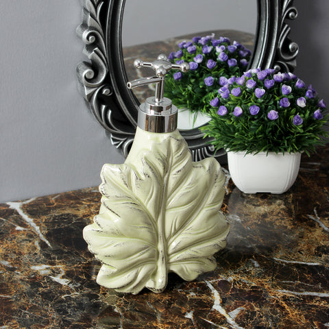 Maple Leaf Liquid Soap Dispenser - Yellow
