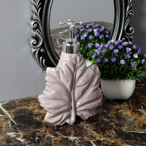 Maple Leaf Liquid Soap Dispenser- Pink
