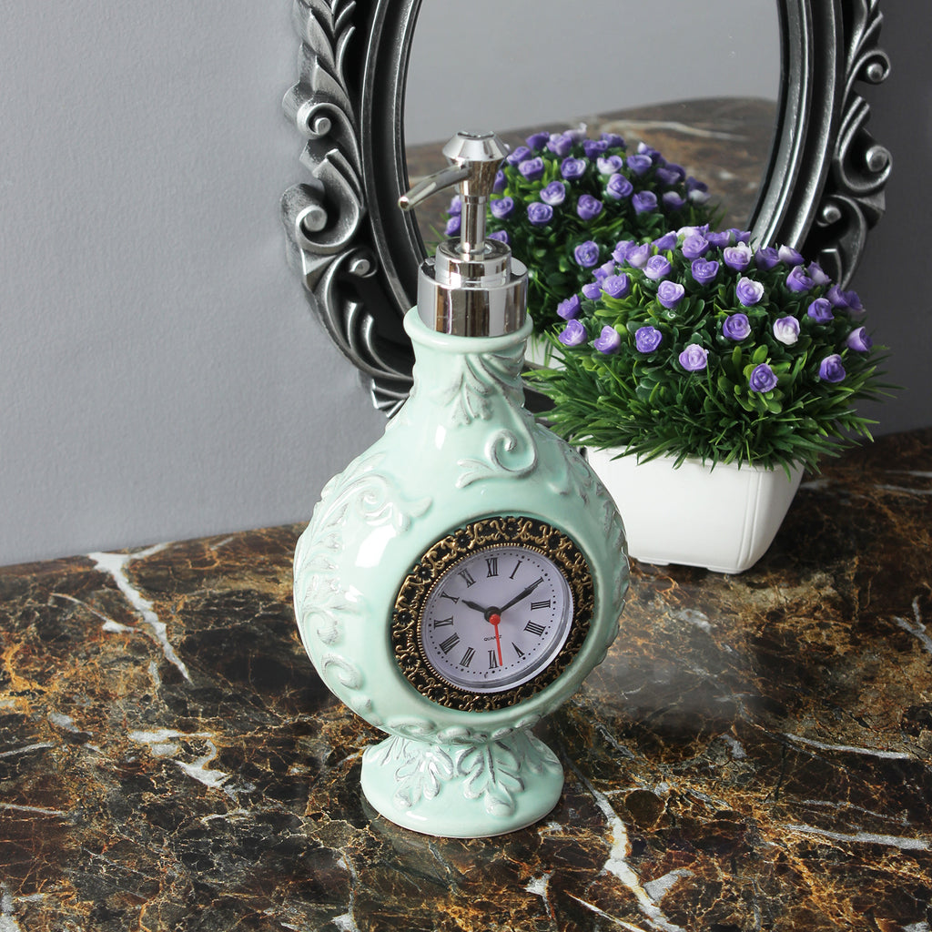 Vintage Clock Liquid Soap Dispenser - Green