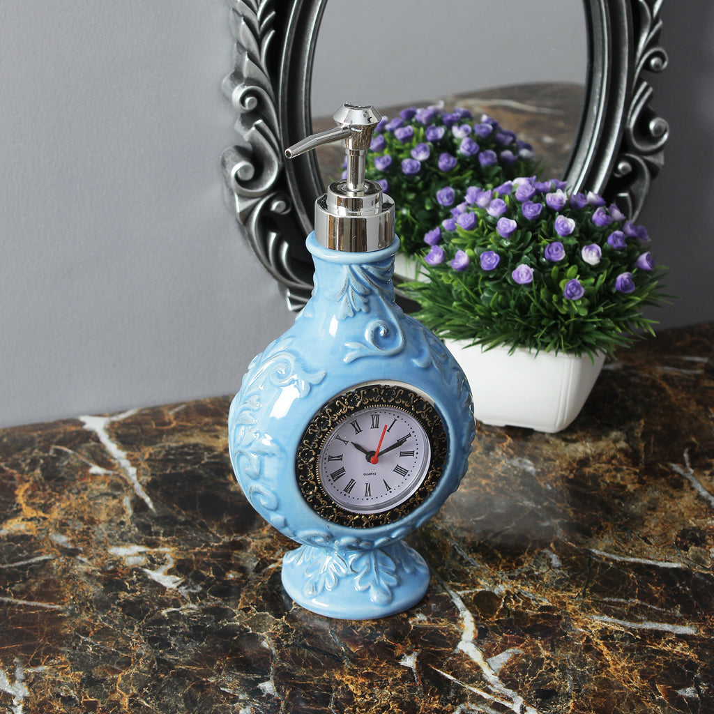 Vintage Clock Liquid Soap Dispenser - Blue