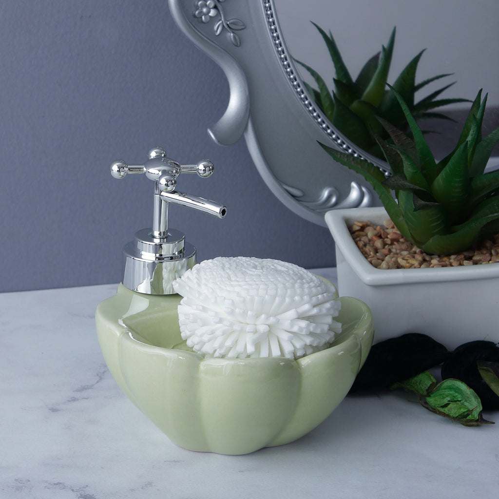 Lotus Soap Dispenser - Light Green