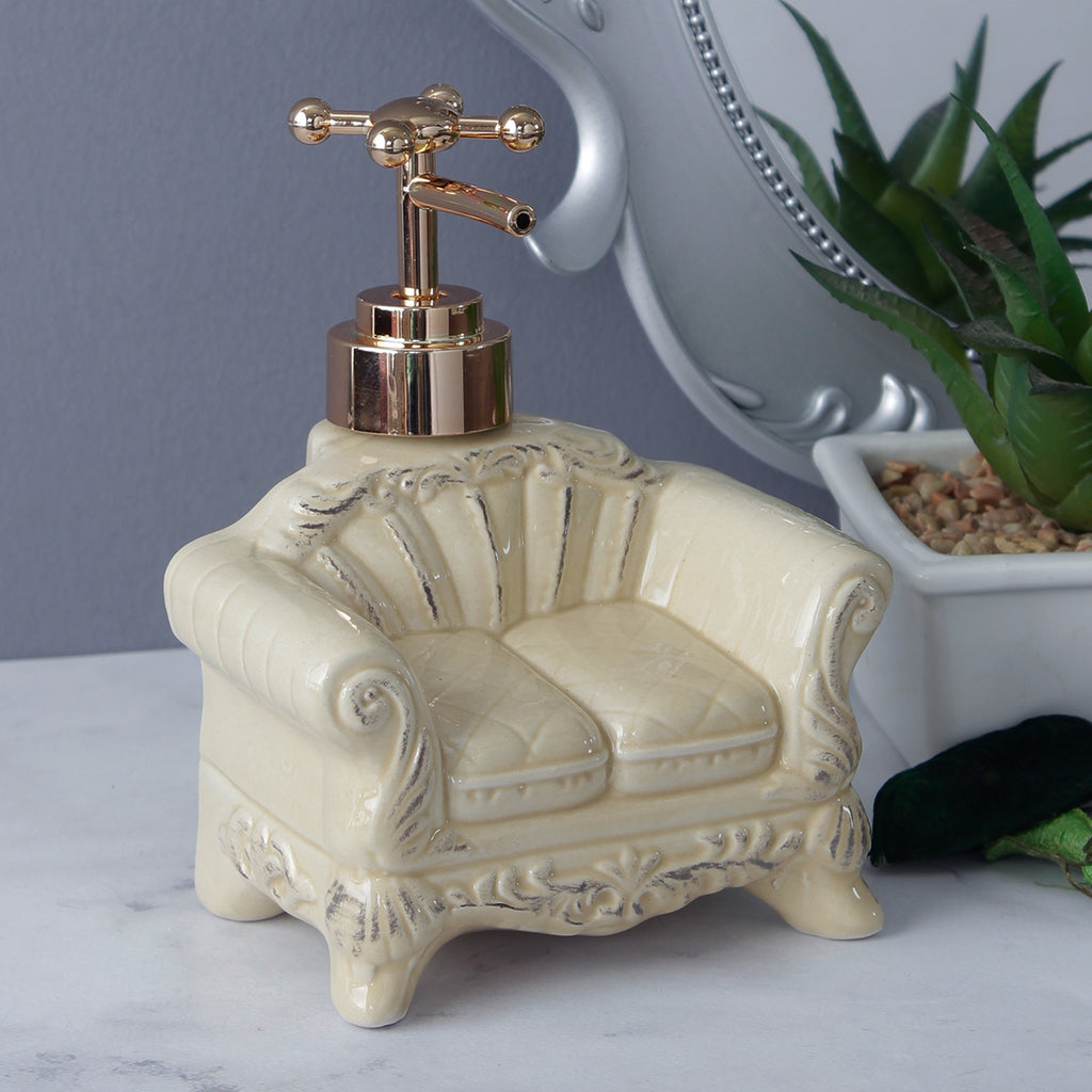 Vintage Sofa Soap Dispenser - Creamy Beige