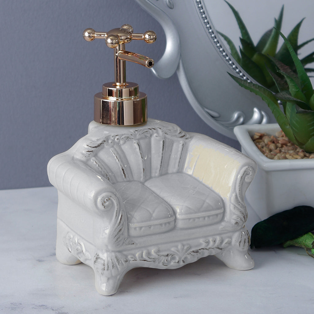 Vintage Sofa Soap Dispenser - Sky Blue