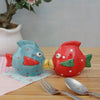 Cute Fish Salt and Pepper Set - Red/Blue