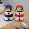 Lighthouse Salt and Pepper Set - Red/Blue